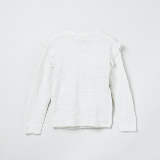 MAX Textured Ruffled Detail Sweater