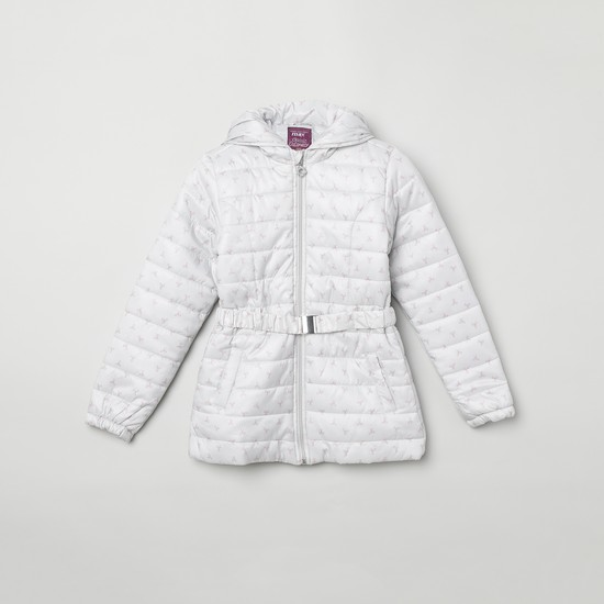 MAX Printed Hooded Quilted Jacket