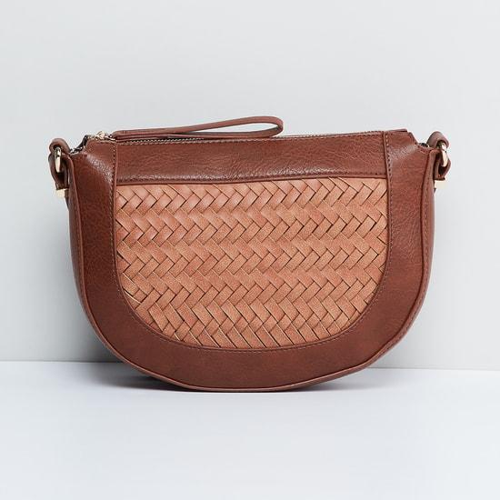 MAX Basket Weave Sling Bag