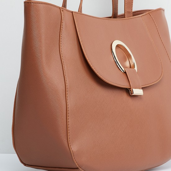 MAX Solid Handbag with Flat Handles