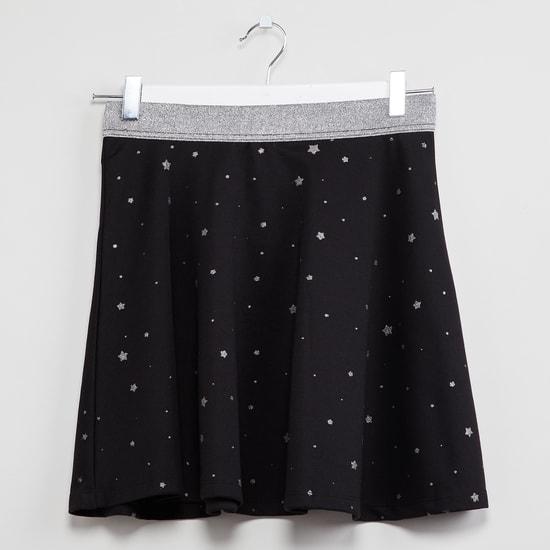 MAX Star Print A-line Skirt