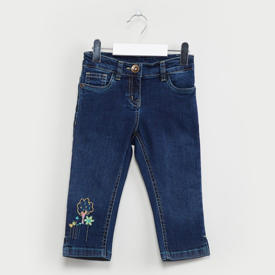 MAX Washed Jeans with Embroidery