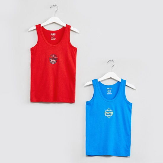 MAX Typographic Print Atheletic Vests - Pack of 2 Pcs.