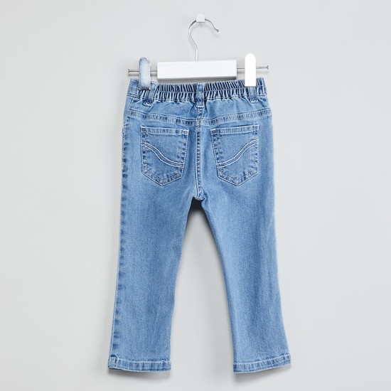 MAX Lightly Washed Jeans with Embroidery