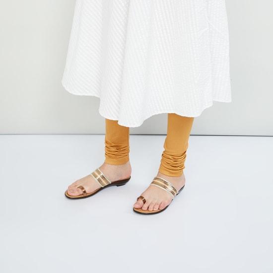 MAX Embellished Toe Ring Flats