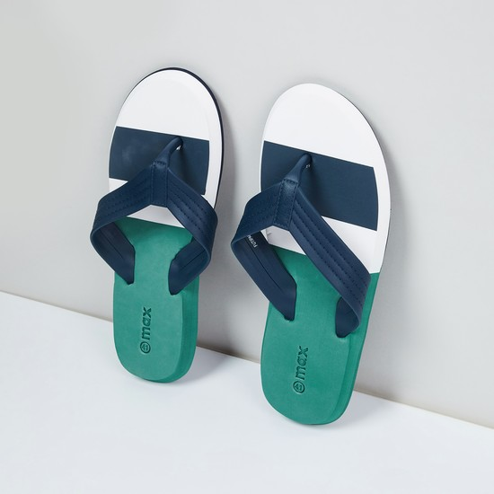 MAX Colourblocked V-strap Slippers