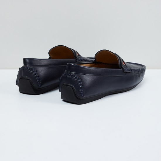 MAX Textured Band Detailed Loafers