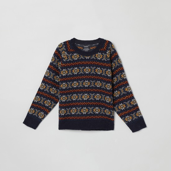 MAX Jacquard Patterned Full Sleeves Sweater