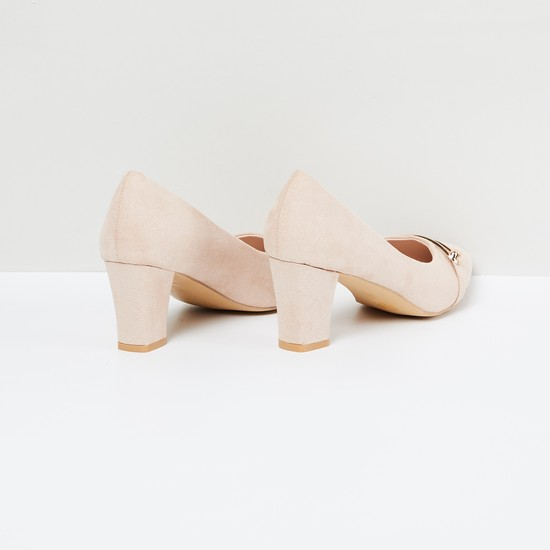 MAX Pointed-Toe Pumps with Block Heels