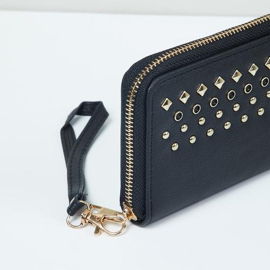 MAX Studded Zip-Around Wallet
