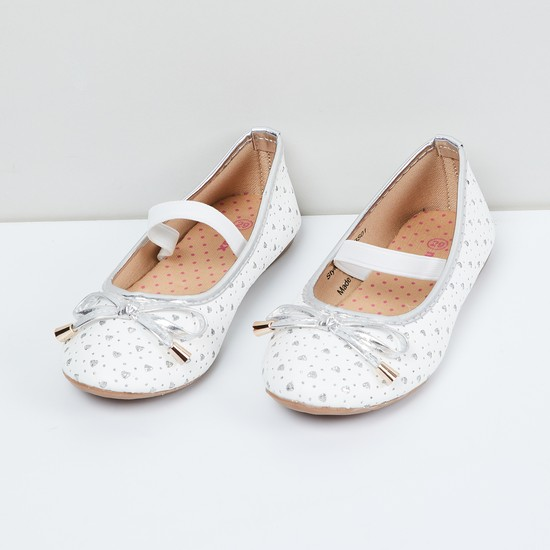 MAX Bow Detailed Ballerina Shoes
