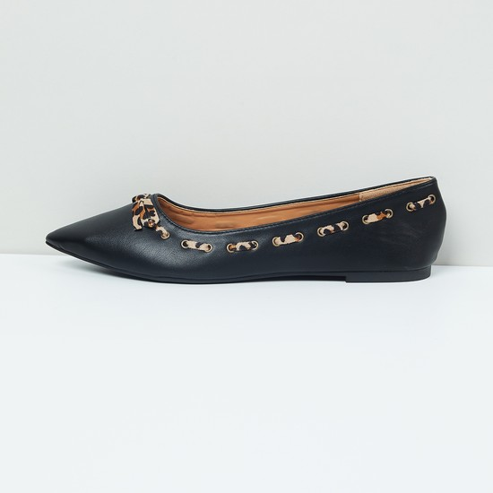 MAX Interlaced Pointed-Toe Ballerinas