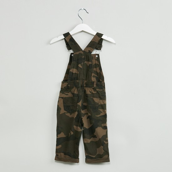 MAX Camouflage Print Embroidered Dungarees
