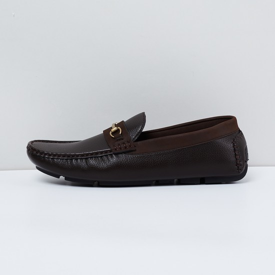 MAX Solid Buckled Loafers