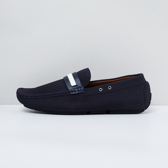 MAX Perforated Textured Loafers