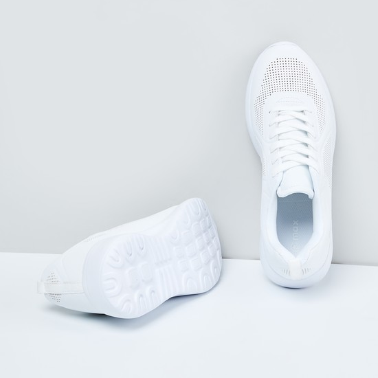 MAX Perforated Detail Casual Lace-Up Shoes