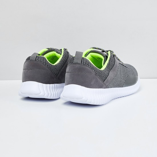 MAX Mesh Panel Detail Lace-Up Shoes