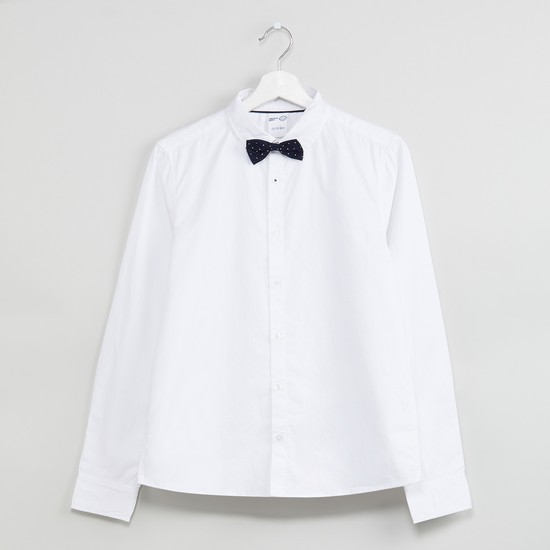 MAX Solid Formal Shirt with Bow Applique