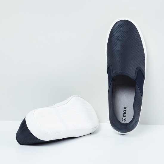 MAX Panelled Perforated Slip-ons