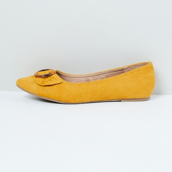 MAX Solid Ballerinas with Tortoise Shell