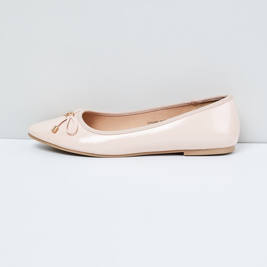 MAX Solid Bow Detail Ballerinas