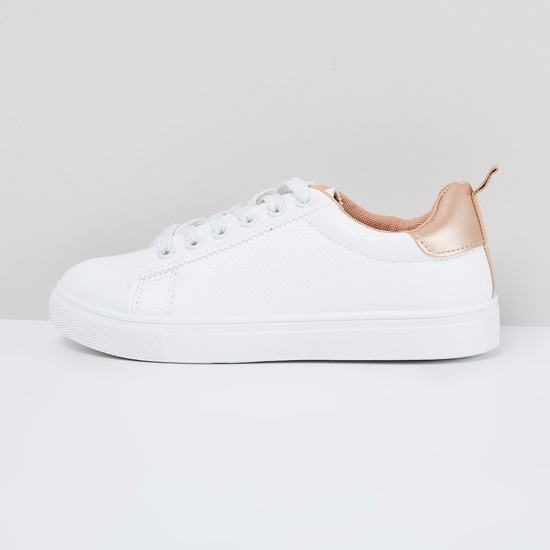MAX Textured Panelled Casual Shoes