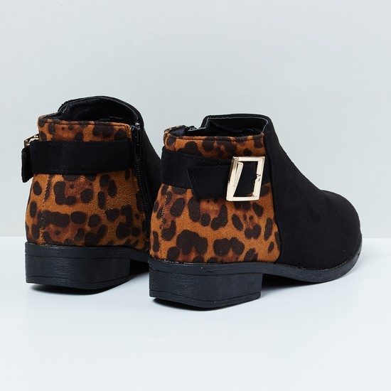 MAX Printed Chuka Boots with Buckle Detail