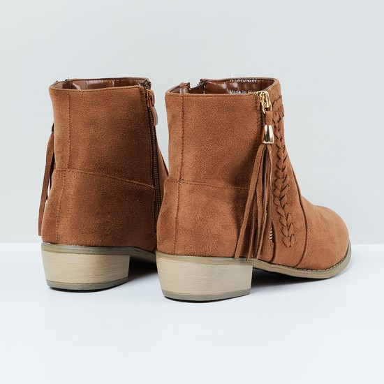 MAX Mid-Top Boots with Zip Closure