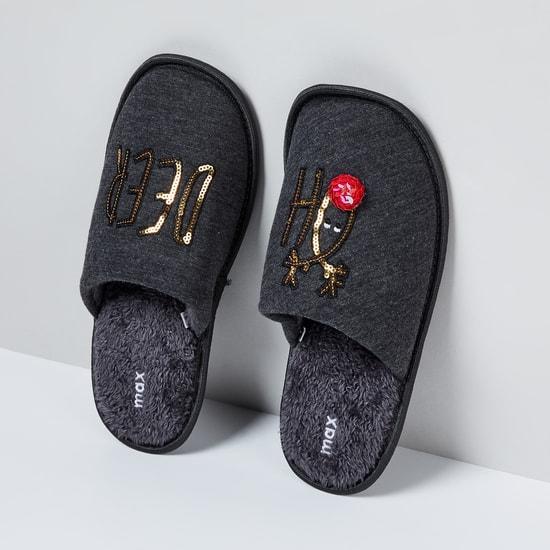 MAX Embellished Slip-On Slippers