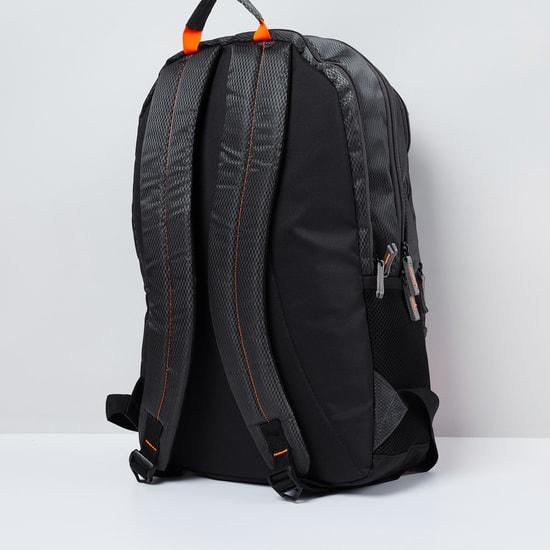 MAX Textured Zip-Closure Laptop Backpack