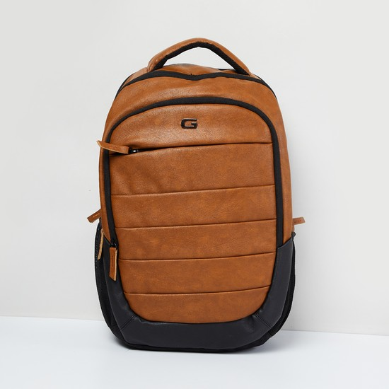 MAX Panelled Zip-Closure Laptop Backpack