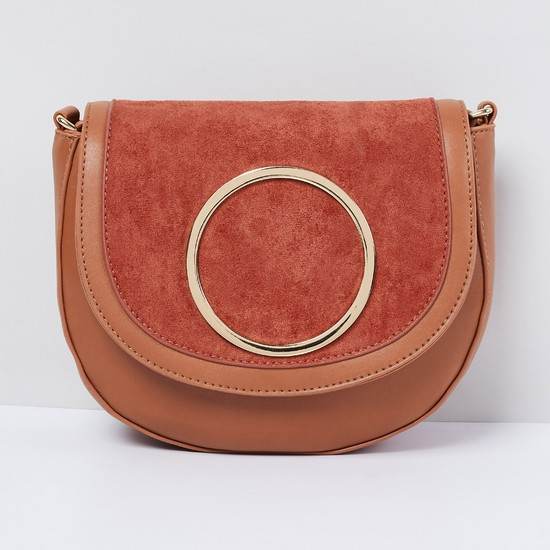 MAX Textured Sling Bag with Flap