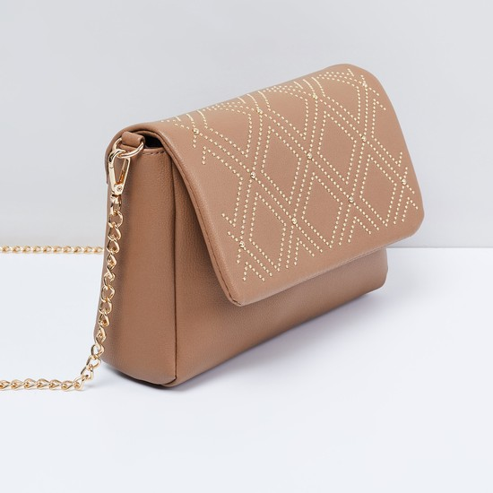 MAX Studded Sling Bag with Chain Strap