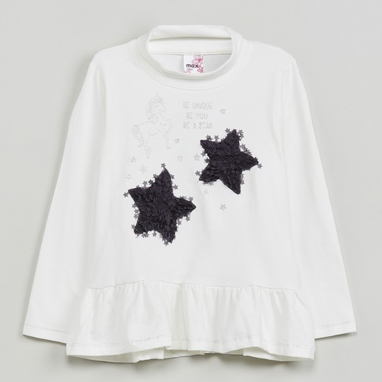 MAX Embellished Full Sleeves Top