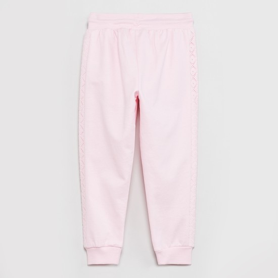 MAX Solid Lace Trimmed Joggers
