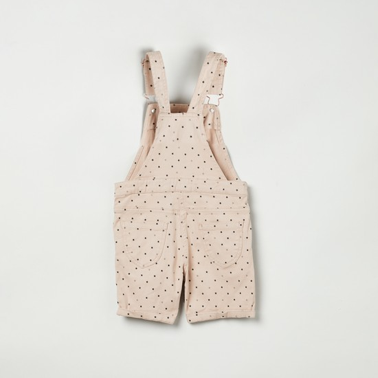 MAX Printed Dungarees with Applique