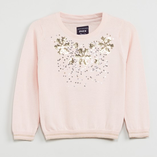 MAX Sequin Embellished Sweater
