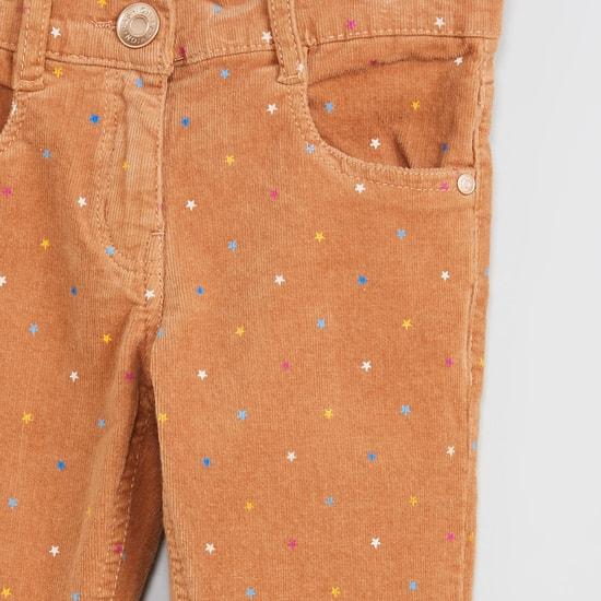 MAX Star Print Corduroy Pants