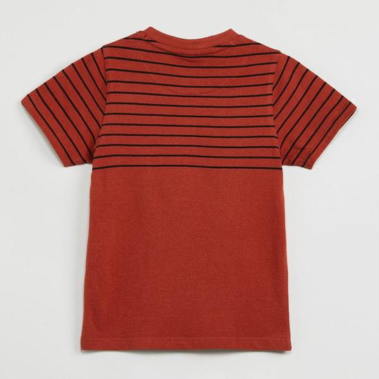 MAX Printed Short Sleeves Henley T-shirt