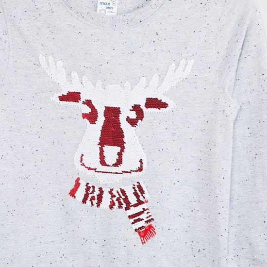 MAX Sequin Embellished Sweatshirt