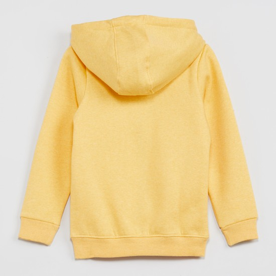 MAX California Embroidery Textured Hoodie