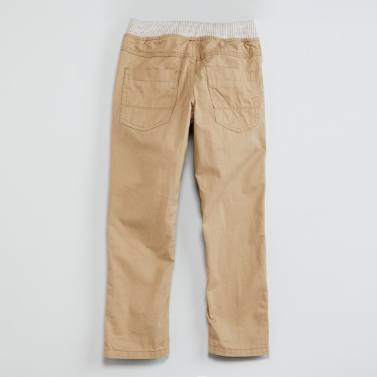 MAX Solid Panelled Detail Elasticated Trousers