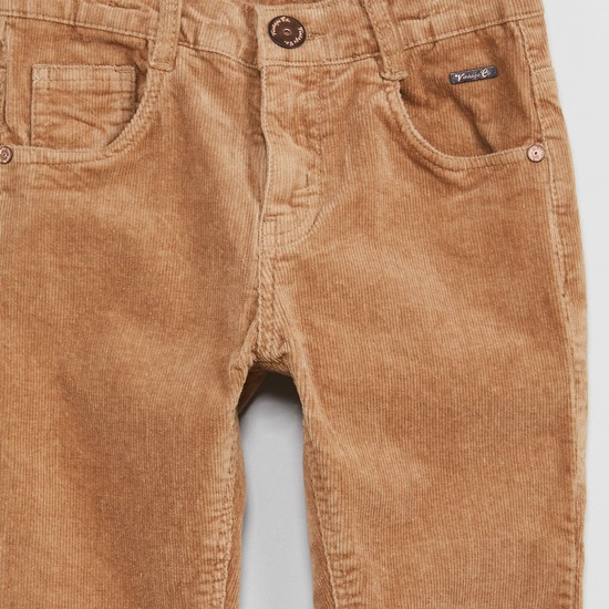 MAX Solid Slim Fit Corduroy Trousers