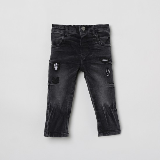MAX Patchworked Slim Fit Jeans