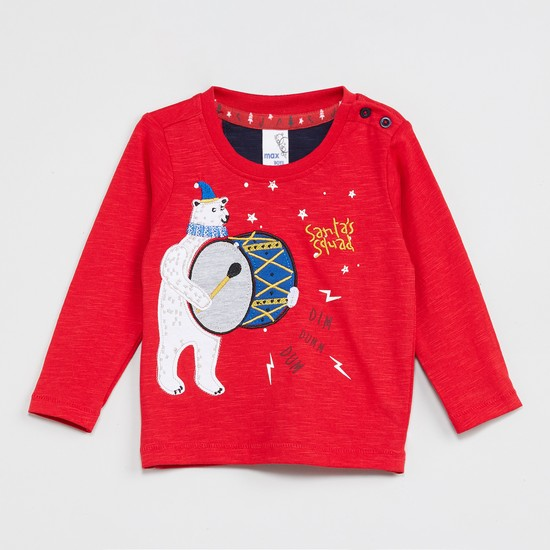 MAX Applique Detailed Full Sleeves T-shirt