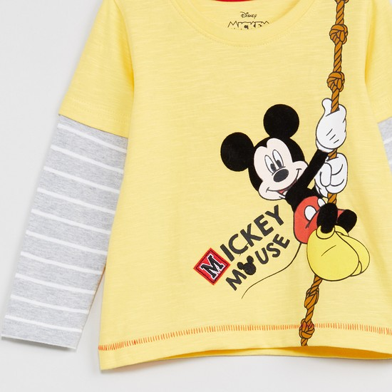 MAX Mickey Print Full Sleeves T-shirt
