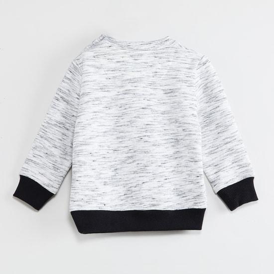 MAX Heathered Full Sleeves Sweatshirt