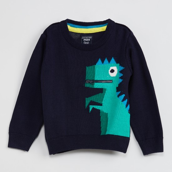 MAX Dinosaur Patterned Sweater