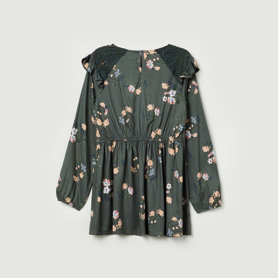 MAX Floral Print Lace Tunic