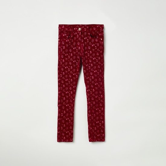 MAX Floral Print Slim Fit Trousers